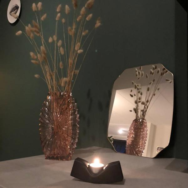 Waxinelichthouder zwart design