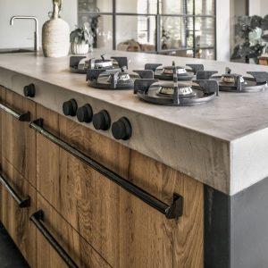 Keuken handgrepen landelijk of industrieel